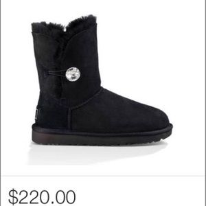 UGG Bailey Button Bling Boots (Black)